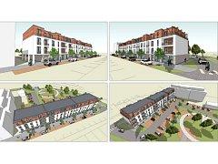 Vizualizace nových domů.