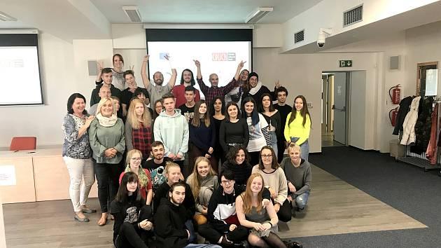 Účastníci projektu  Erasmus+ Grafein Educatio na novojičínské škole Educa.