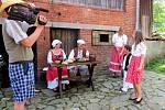 Natáčení pohádky Čertova skála ve vodním mlýně Wesselsky v Loučkách u Oder.