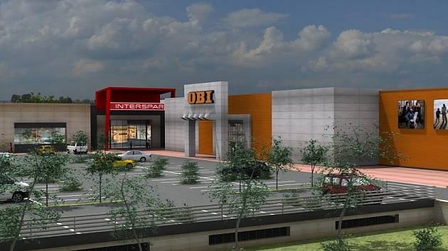 Vizualizace nového obchodního centra Tabačka v Novém Jičíně