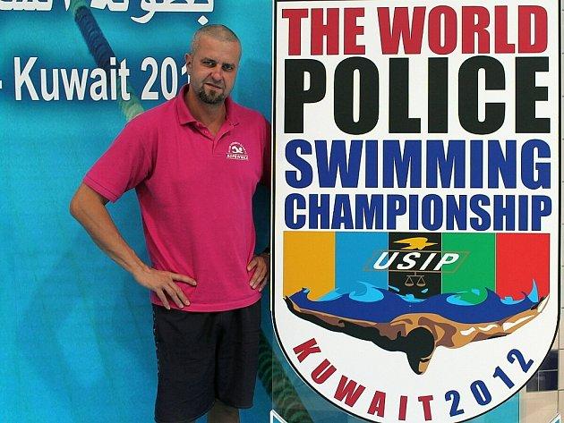 Policisté zazářili na mistrovství, na snímku Ivan Pilát. V Kuvajtu se sedmička policistů dostala několikrát do finálových bojů. Nejlepší umístění byla tři čtvrtá místa.