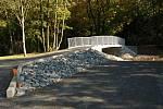 Zatímco Kopřivnici se stavba cyklostezky na Frenštát pod Radhoštěm komplikuje, práce na na trase z Frenštátu pod Radhoštěm pokračují. Foto: archiv MěÚ Frenštát.