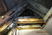 Požár podkroví rodinného domu ve Frenštátě pod Radhoštěm.