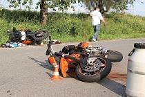V sobotu 29. června po páté hodině odpoledne se stala nehoda tří motocyklů, nehoda si vyžádala tři zraněné osoby.