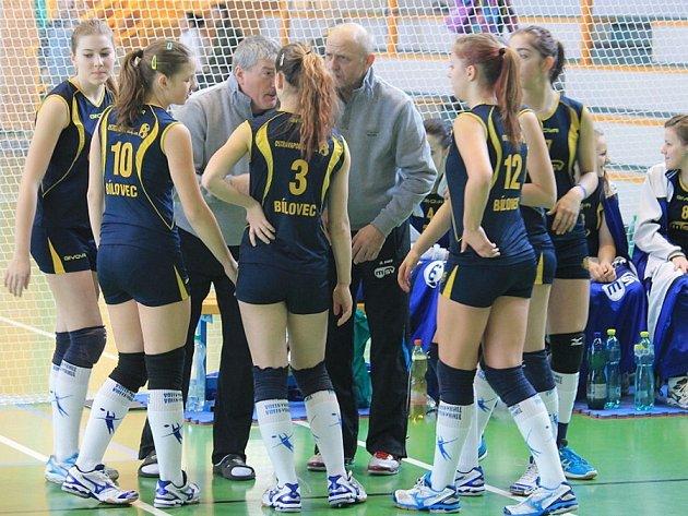 Bílovecké volejbalistky porazily v dramatickém zápase i pražský Olymp a mohly se zaslouženě radovat z vítězství.