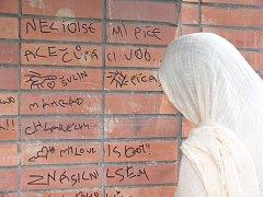 """Hanlivé nápisy """"zdobí"""" zdivo domu na ulici Dlouhá 25 v Novém Jičíně. Neznámí výtržníci část zdi popsali vulgárními slovy."""