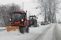 V noci na středu 13. února sníh zasypal Novojičínsko.