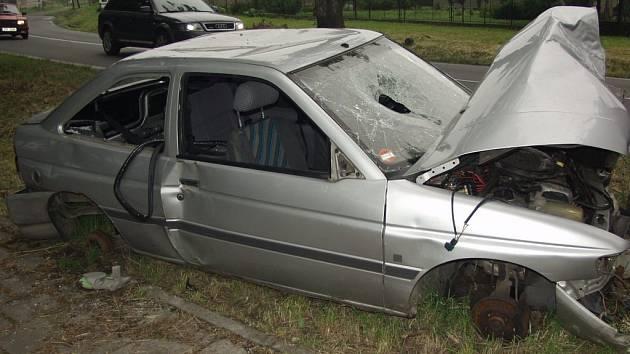 Takto dopadlo vozidlo, které letos bouralo v Příboře.