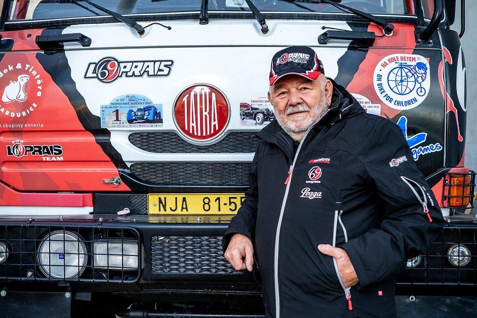 Karel Loprais, český automobilový závodník a šestinásobný vítěz automobilových závodů Rallye Dakar, 18. prosince ve Frenštátě pod Radhoštěm. Na snímku Karel Loprais.