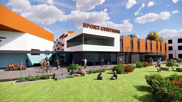 Vizualizace představuje jak by měla vypadat nová sportovní hala ve Studénce. Foto: www.studenka.cz