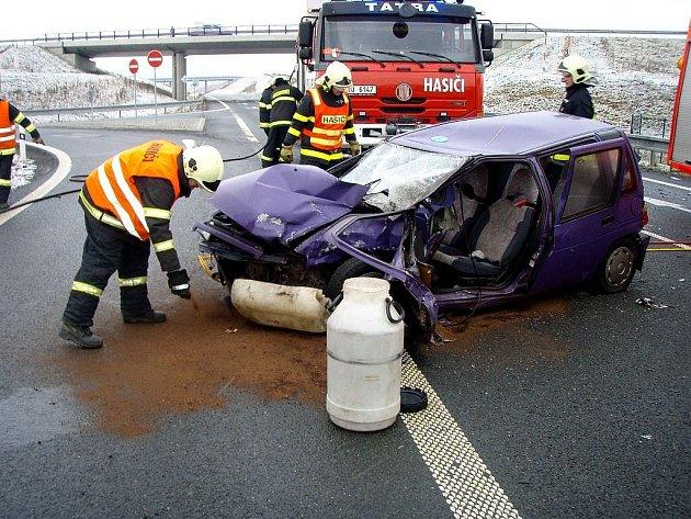 Pondělní dopravní nehoda u Fulneku.