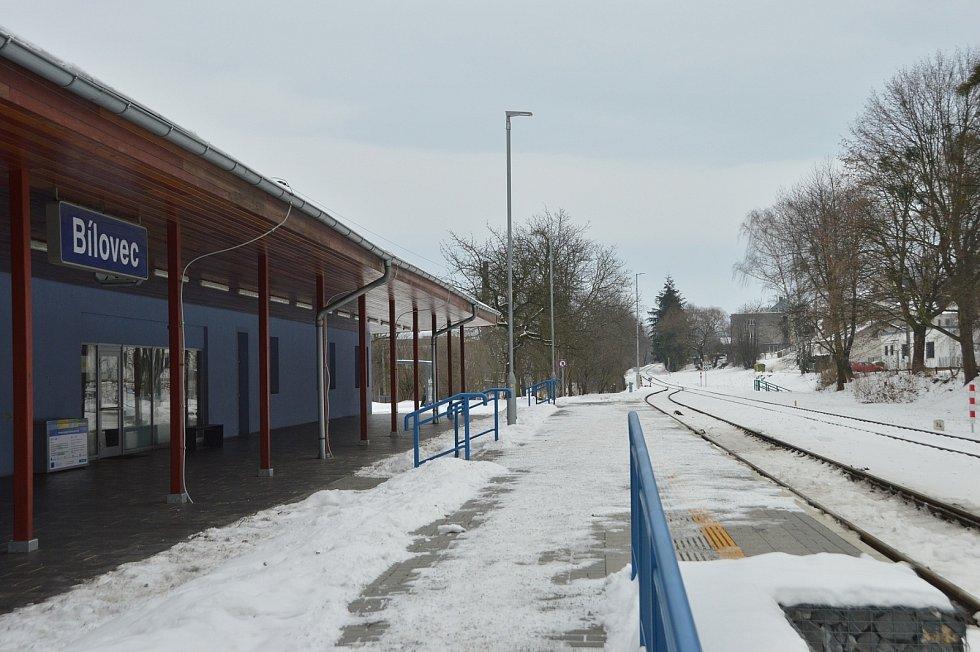 Železniční nádraží Bílovec.