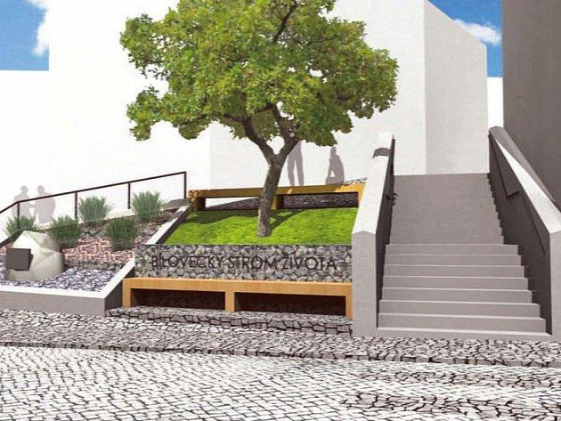 Město nechalo zpracovat architektonickou studii, která se zabývá možností využití a zkulturnění stávající svažité plochy vblízkosti městských schodů a jejich celkovou rekonstrukcí.