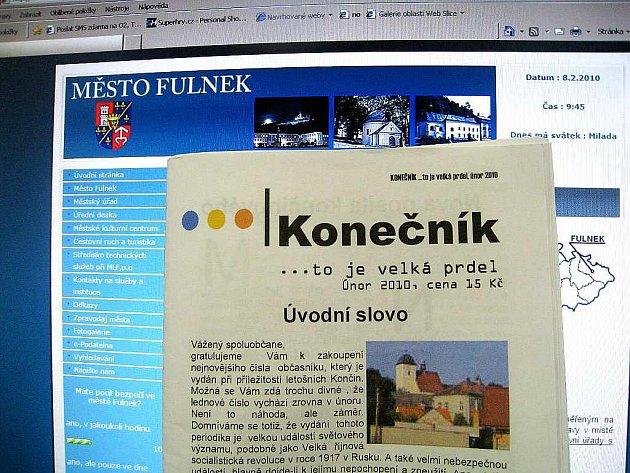 Konečník, tímto nepoetickým názvem nazývají svůj občasník organizátoři Končin v Děrném, místní části Fulneku.