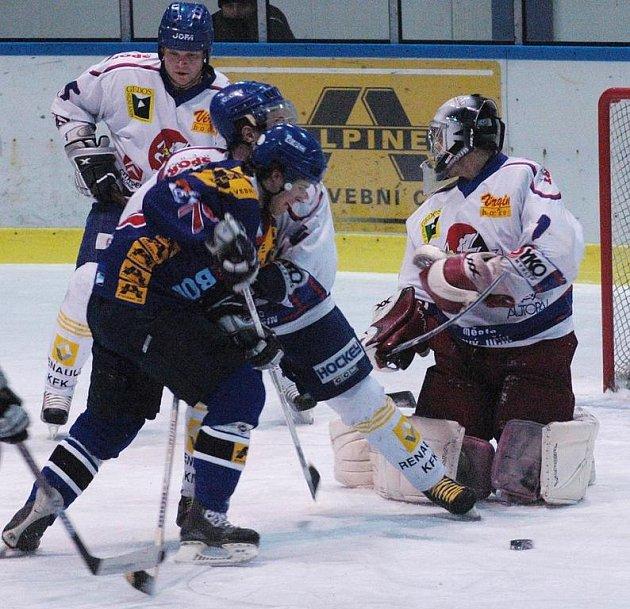 Utkání 14. kola druhé hokejové ligy, skupiny Východ, mezi Valašským Meziříčím a Novým Jičínem skončilo po šedesáti minutách nerozhodně 3:3. V prodloužení vyhráli domácí.