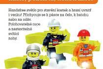 LEGO City čelovka hasič, policista, konstruktér.