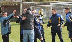 Frenštátské fotbalisty povede ve zbytku sezony Ivo Maruchnič (druhý zprava).
