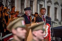 Tomáš Garrigue Masaryk navštívil díky divadelnímu představení náměstí v Novém Jičíně.