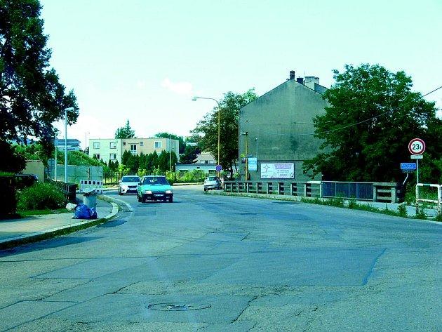 Konec Suvorovovy ulice v Novém Jičíně v současné podobě.