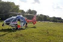 Dva lidé na motorce utrpěli zranění při nehodě ve Veřovicích