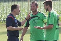 Fotbalisté Oder už se nebudou moci spoléhat na produktivní duo František Murín (uprostřed), Lubomír Maléř (vpravo).