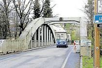 Most v Lubině ještě před jeho rekonstrukcí.