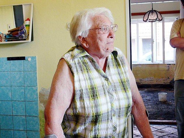Olga Navrátilová přišla při povodni o vše.