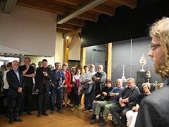 Zahájení výstavy o oderském zámku v Muzeu Oderska v Odrách.