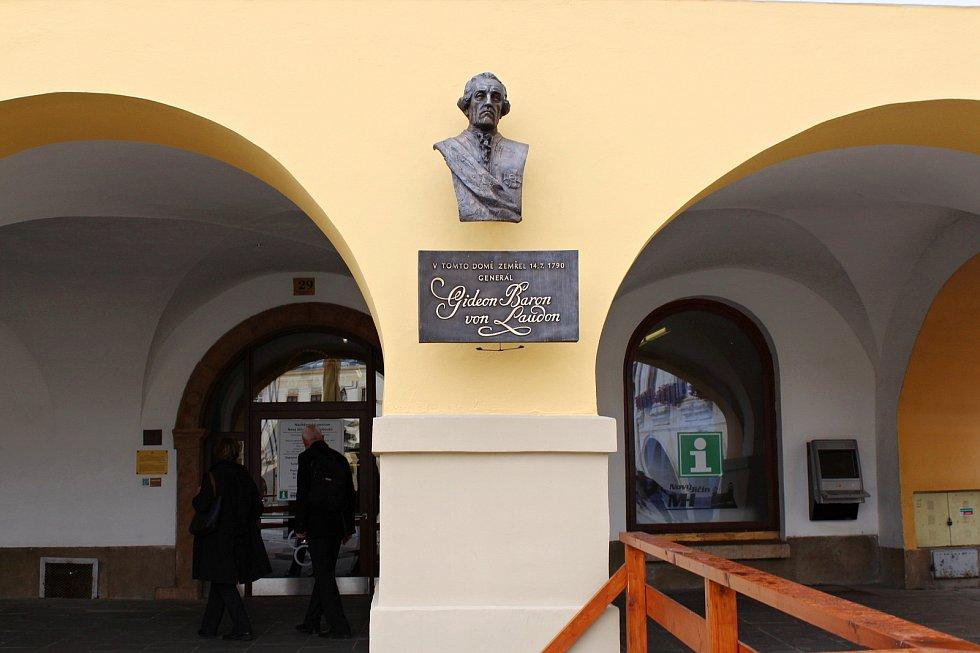 V domě na Masarykově náměstí v Novém Jičíně, kde je stálá expozice věnovaná generálu Laudonovi, přibyla v roce 2021 také část Laudonovy knihovny.
