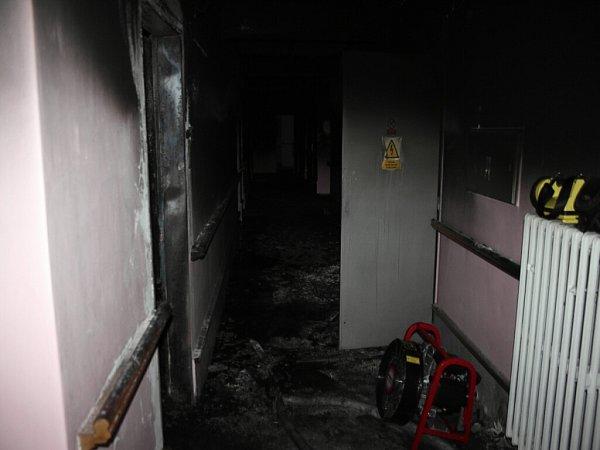 Požár domova spečovatelskou službou vPříboře.
