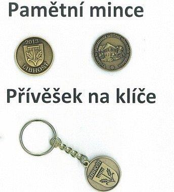 Pamětní mince a přívěšek na klíče