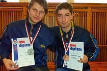 Závišičtí judisté uspěli tentokrát na Grand Prix v Ostravě. Medaile brali Ondřej Číp (vlevo)  a Adam Kahánek.