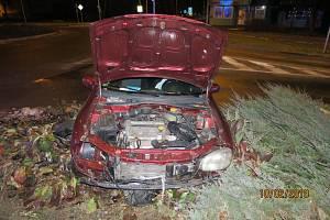 Opilý řidič havaroval v Kopřivnici.