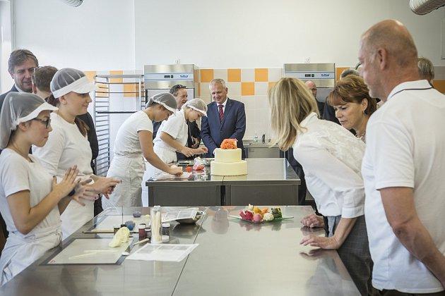 Nové cukrářské centrum mohou využívat žáci Hotelové školy Frenštát pod Radhoštěm.