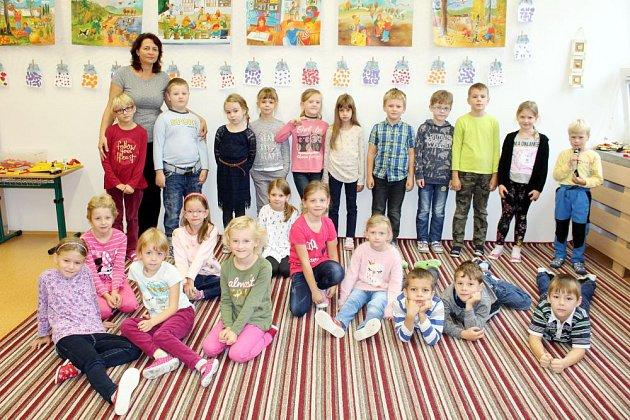 Prvňáčci ze Základní a Mateřské školy Mořkov.