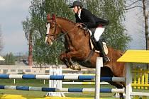 Vítěz Májové ceny Tomáš Bajnar na koni Daniela 2 z Baníku Ostrava.