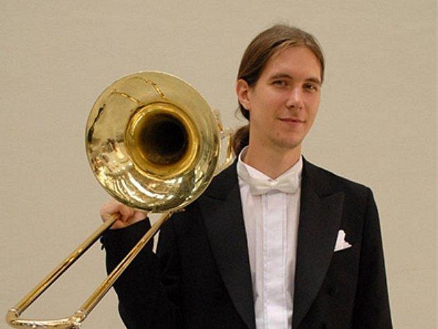 Kopřivnický rodák Pavel Debef se hře na trombon věnuje již od desíti let.