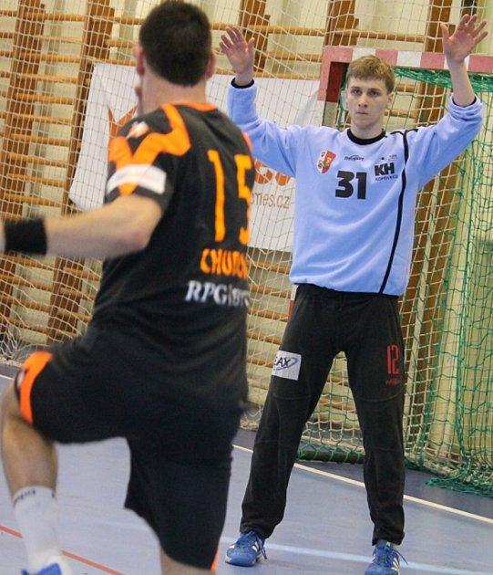 Kopřivnici v důležitém zápase v Přerově několikrát podržel brankář Marek Žingor a společně s týmem se mohl radovat ze zisku dvou bodů.