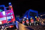 Zásah u havarované dodávky na rozestavěné dálnici D48 u Příbora..