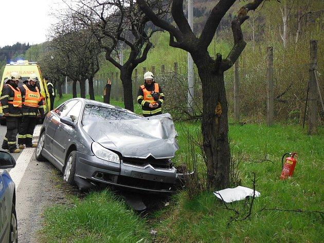 Nehoda v Suchdole.