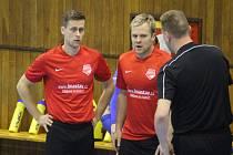 JAKUBČOVICKÁ BARACUDA (zleva David Molnár a Aleš Michálek)je nejvýše hrajícím futsalovým celkemNovojičínska.