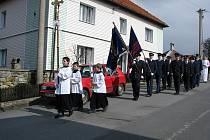 Svěcení hasičského praporu ve Starém Jičíně-Janovocích.