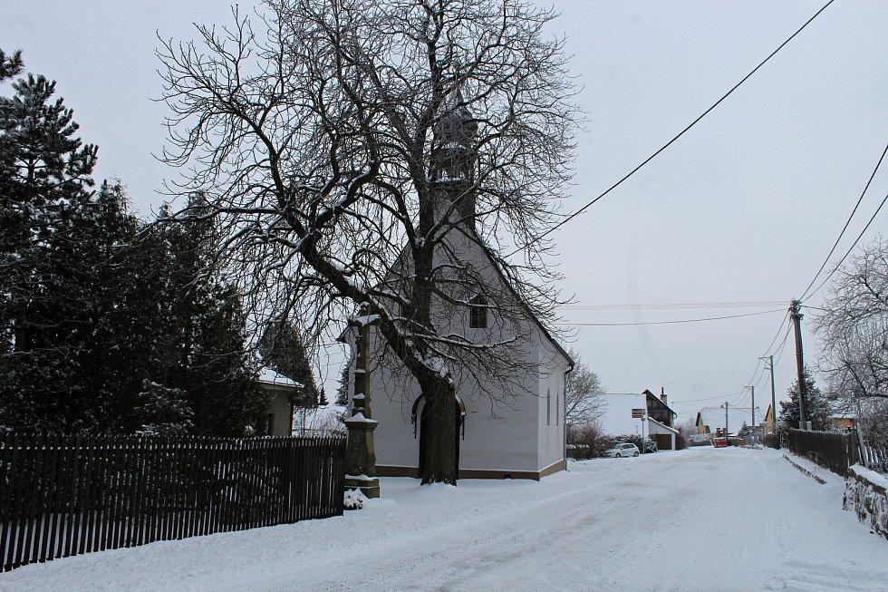 Katolický kostel v Suchdole nad Odrou.