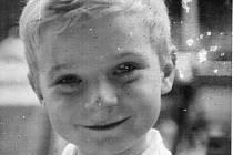 Jaroslav Zezulčík ve věku 5 let při návštěvě Prahy s rodiči.