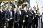 Prezident Miloš Zeman při návštěvě podniku Tatra v Kopřivnici.