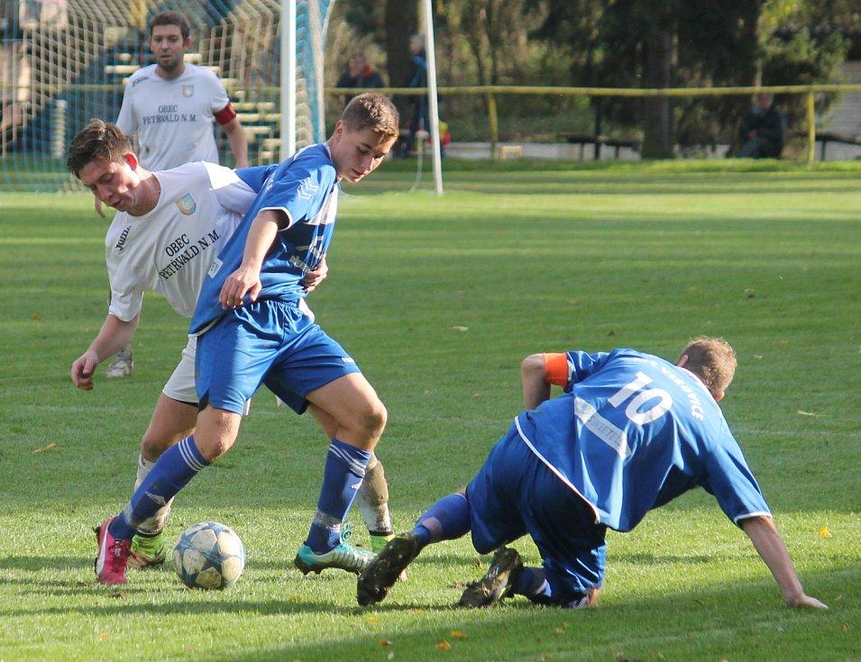 I. A třída, sk. B, 12. kolo: TJ Petřvald na Moravě – AFC Veřovice 1:0 (1:0)