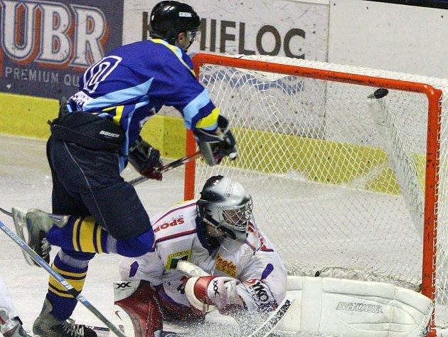Novojičínský brankář Lukáš Šrámek výraznou měrou přispěl ke kvalitním výkonům Nového Jičína.