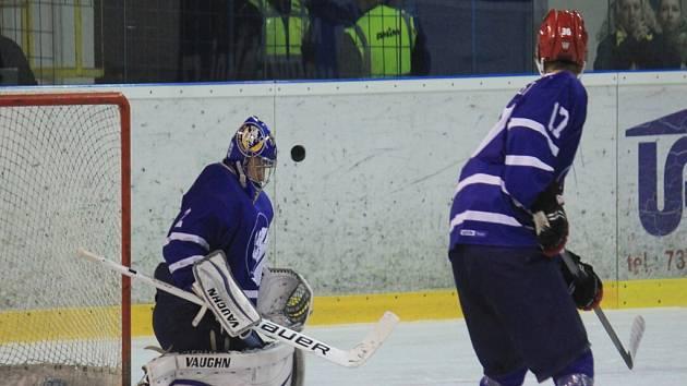 Strážce novojičínské svatyně Jiří Slovák podal v derby proti Kopřivnici bezchybný výkon, za který byl odměněn prvním čistým kontem v sezoně.