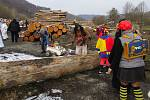 Pravděpodobně poslední letošní masopustní průvod na Novojičínsku se konal v sobotu 27. února. Stalo se tak v Heřmánkách, v nejmenší obci Novojičínska, kde jej uspořádali místní hasiči.
