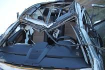 Moravskoslezští policisté hledají svědky tragické dopravní nehody na dálnici D1, ke které došlo ve středu 6. března 2019 okolo 14:30 hodin na 317,5 kilometru, 150 metrů před čerpací stanicí Shell, u obce Vražné.